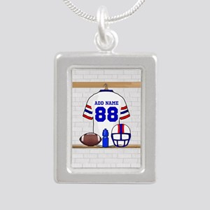 Personalized American Football Grid Iron WRB Silve