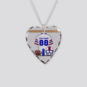 Personalized American Football Grid Iron WRB Neckl