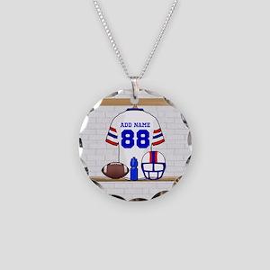 Personalized American Football Grid Iron WRB Neckl