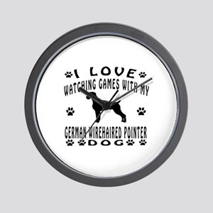 German Wirehaired Pointer design Wall Clock