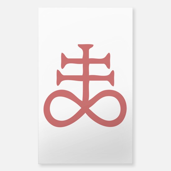 Satanic Cross Sticker (Rectangle)