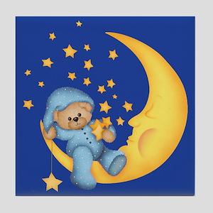 Blue Starlite Bear Tile Coaster