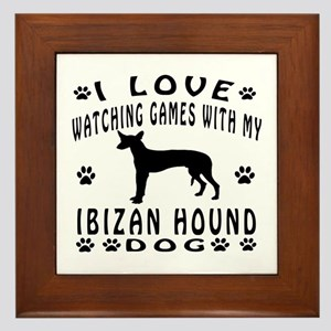 Ibizan Hound design Framed Tile