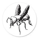 Bee Round Car Magnet