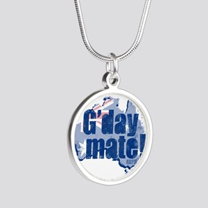 G'day Mate Silver Round Necklace