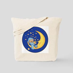 Blue Starlite Bear Tote Bag