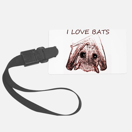 I LOVE BATS Luggage Tag