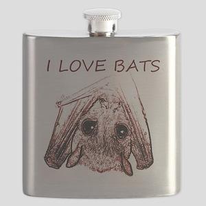 I LOVE BATS Flask