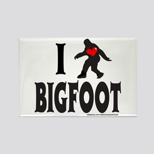 I HEART/LOVE BIGFOOT Rectangle Magnet
