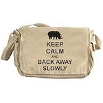 Keep Calm and Back Away Slowly Messenger Bag