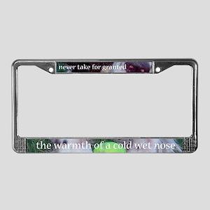 Cold Wet Nose License Plate Frame
