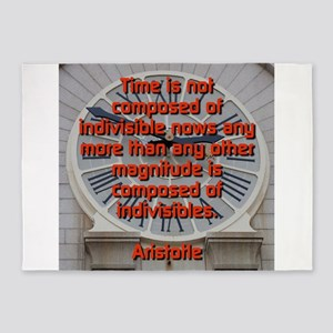 Time Is Not Composed - Aristotle 5'x7'Area Rug
