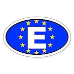 Spain - European Union Oval Sticker