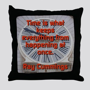 Time Is What Keeps Everything - Ray Cummings Throw