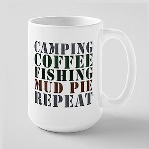 Camp Coffee Fishing Large Mug