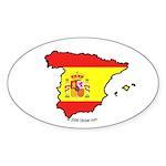 Spain National Flag Outline Oval Sticker