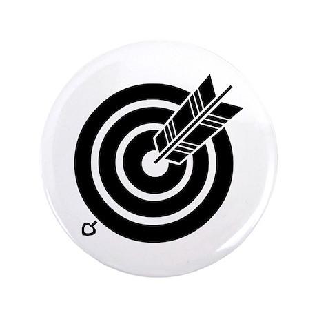 "Arrow hit a round target 3.5"" Button"