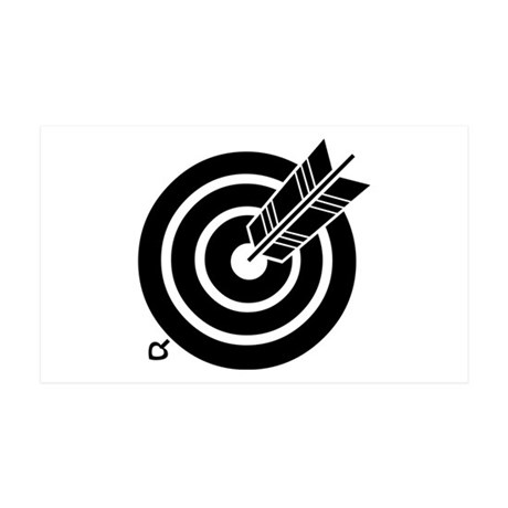 Arrow hit a round target 35x21 Wall Decal