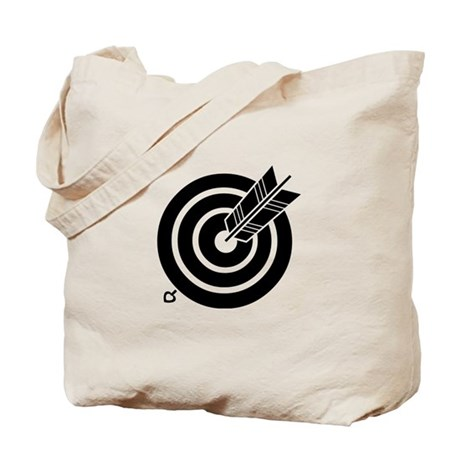 Arrow hit a round target Tote Bag