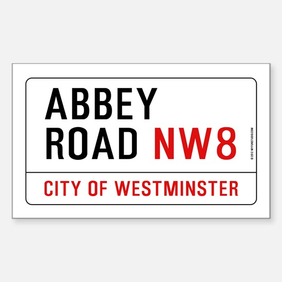 Abbey Road NW8 Sticker (Rectangle)