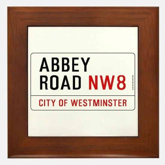 Abbey Road NW8 Framed Tile
