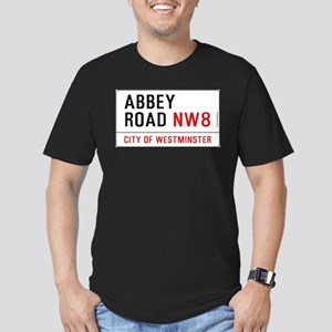 Abbey Road NW8 Men's Fitted T-Shirt (dark)