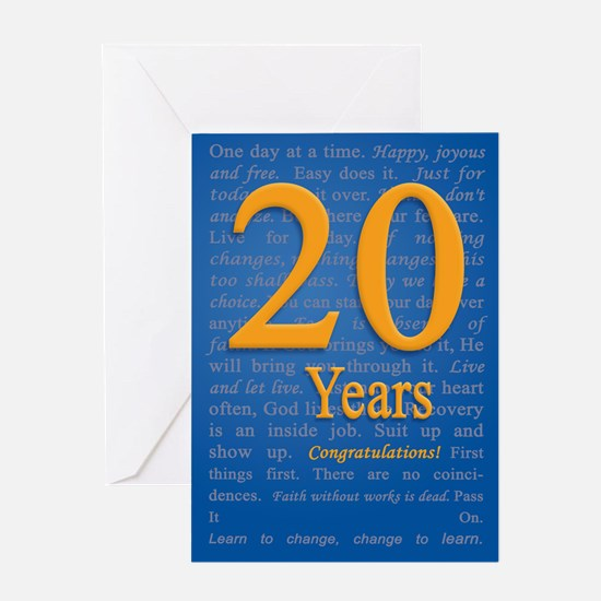 20 Year recovery Birthday Greeting Card