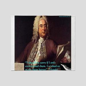 George Handel Throw Blanket