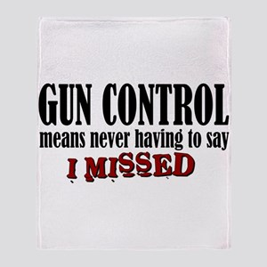 Gun Control Throw Blanket