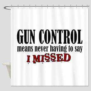 Gun Control Shower Curtain