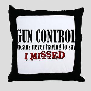 Gun Control Throw Pillow