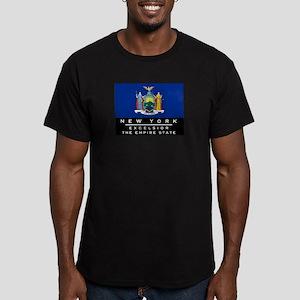 New York State Flag Men's Fitted T-Shirt (dark)