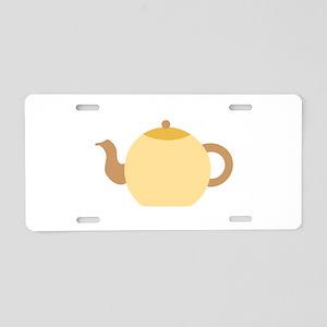 Beige Teapot. Aluminum License Plate