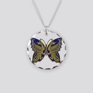 Thracian Butterfly Necklace Circle Charm