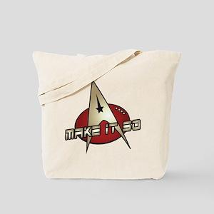 Make It So Star Trek Tote Bag