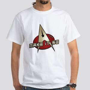 Make It So Star Trek White T-Shirt