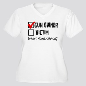 Gun Owner vs Victim Women's Plus Size V-Neck T-Shi