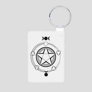 Elemental Pentagram Aluminum Photo Keychain