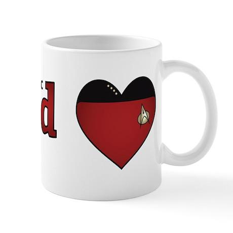 Jean-Luc Picard Heart Mug