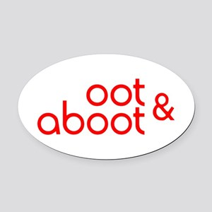 Oot & Aboot (red) Oval Car Magnet