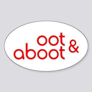 Oot & Aboot (red) Sticker (Oval)