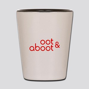 Oot & Aboot (red) Shot Glass