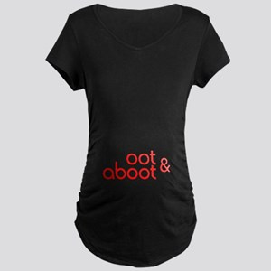 Oot & Aboot (red) Maternity Dark T-Shirt