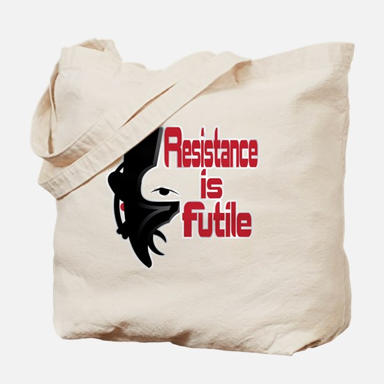 Picard Borg Resistance is Futile Tote Bag