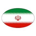 Iran Flag Banner Oval Sticker