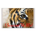 I Survived The 80s!! Sticker (Rectangle 50 pk)