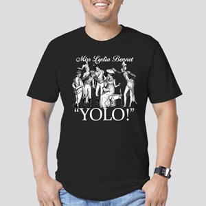 Lydia Bennet YOLO Men's Fitted T-Shirt (dark)