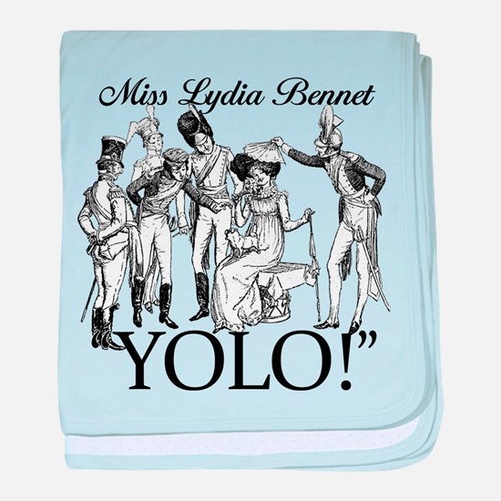 Lydia Bennet YOLO baby blanket