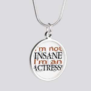 Insane actress Silver Round Necklace