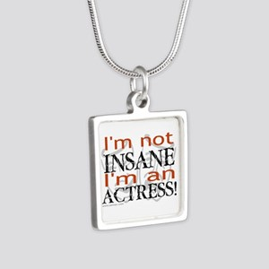 Insane actress Silver Square Necklace
